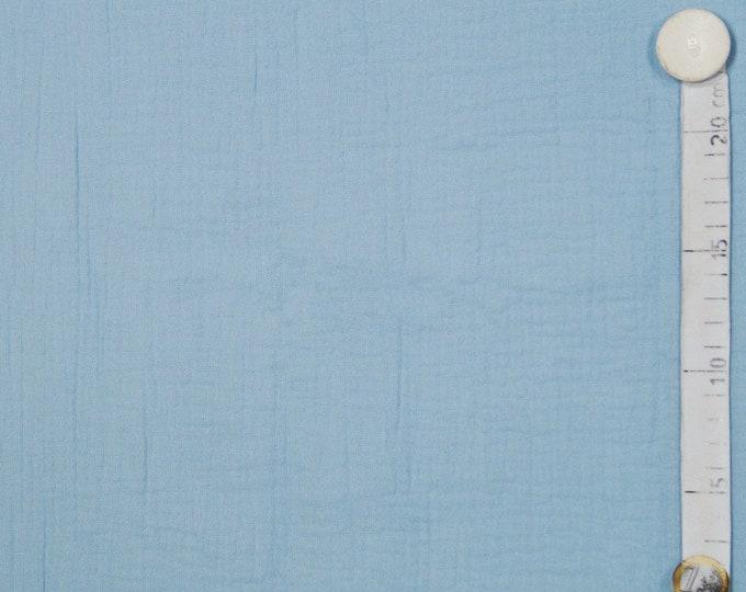 Lichtblauwe katoen. Mousseline