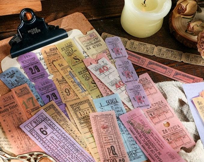 Retro ticket stickers. 40 stuks