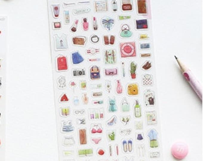 Stickers met schoenen en tassen