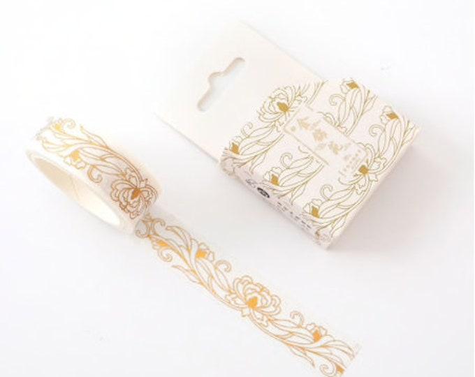 Washi tape met bloemen