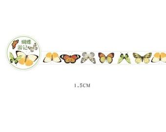 Plastic tape met vlinders