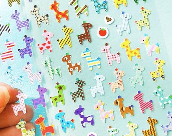 Giraf stickers, giraffe stickers, dieren stickertjes, journal notebook scrapbooking stickers