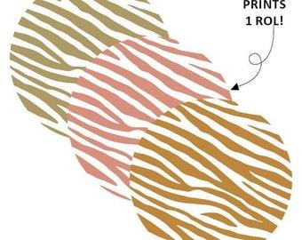 Zebra print stickers. 30 stuks. Goud foil stickers