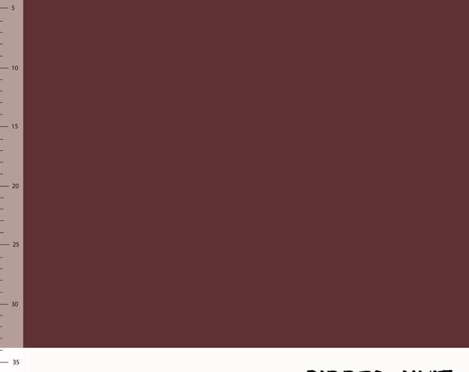Biologische donkerrode boordstof. Elvelyckan Ribbed Knit Wine (013)