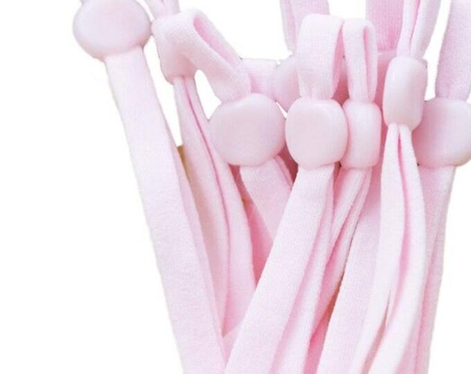 Elastiek voor mondkapjes, roze.  Per 10 stuks