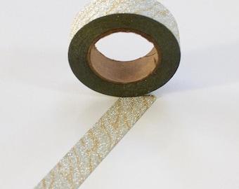 Goud zilver glitter tape