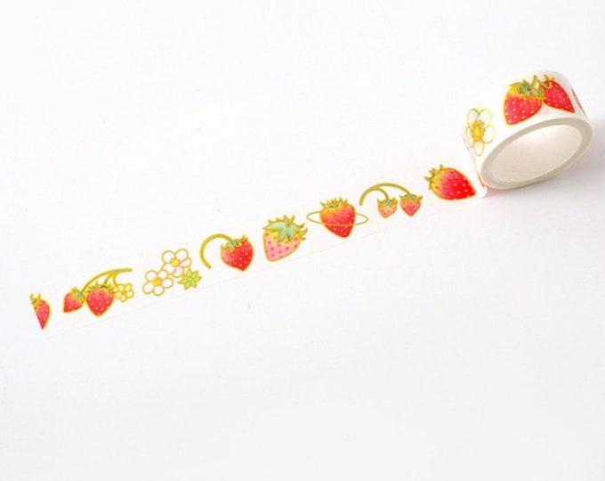 Washi tape met aardbeien