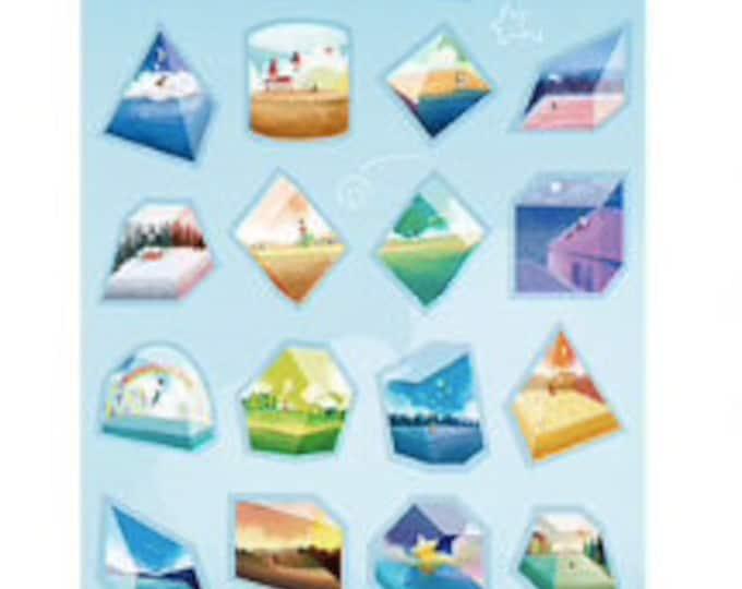 Landschap stickers