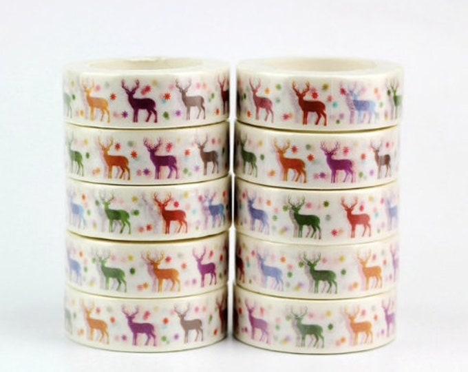 Witte washi tape met herten