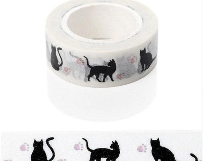 Washi tape met katten