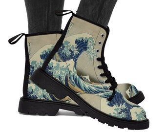 37b5ae309af2ca The Great Wave Off Kanagawa Women s Martin Boots By Hokusai    Japanese  Art