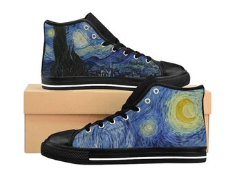 20c8f1bcd89 Starry Night Women s High Top Sneakers    Vincent Van Gogh