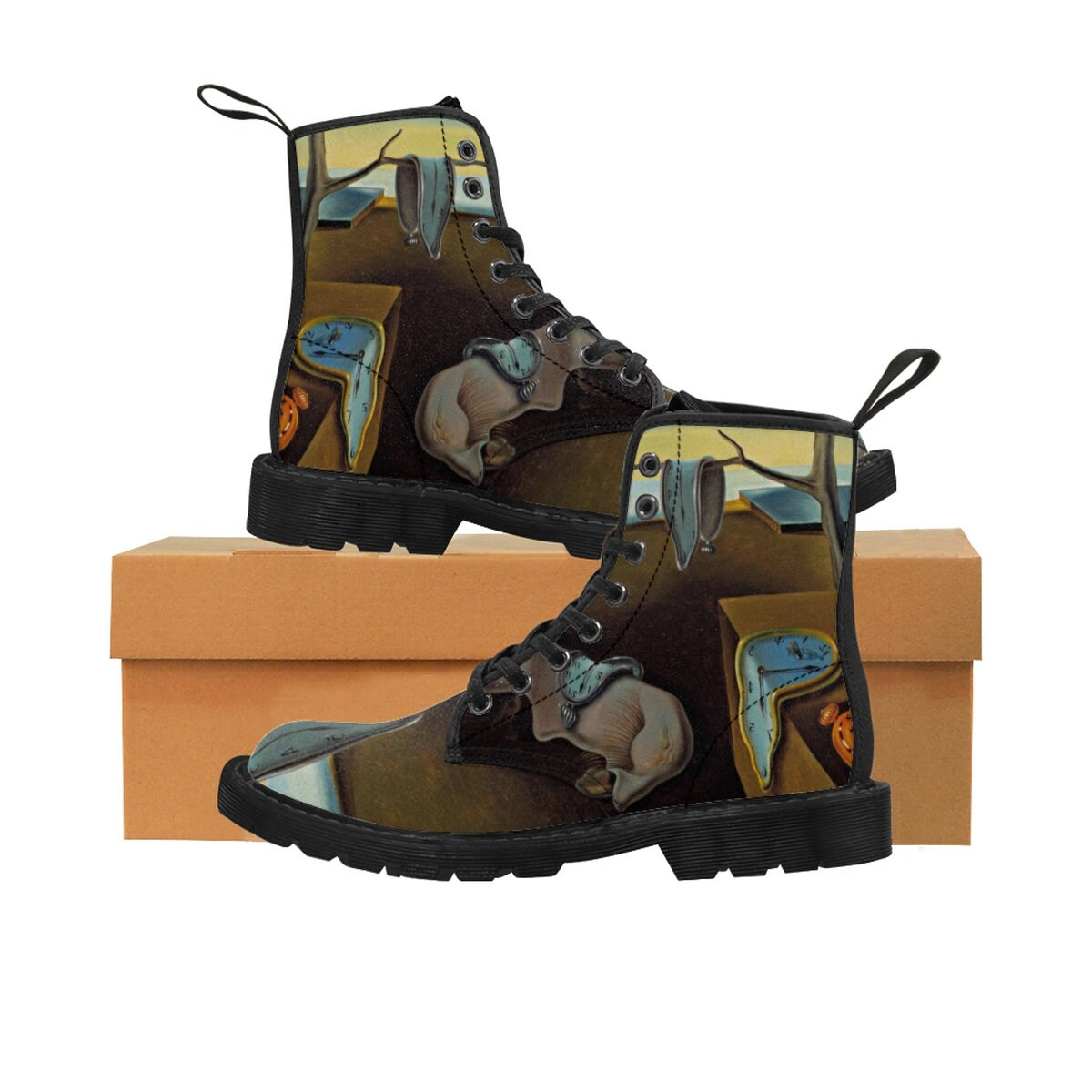 c8c076368 Salvador Dali The Persistence Of Memory WomenS Martin Boots   Etsy