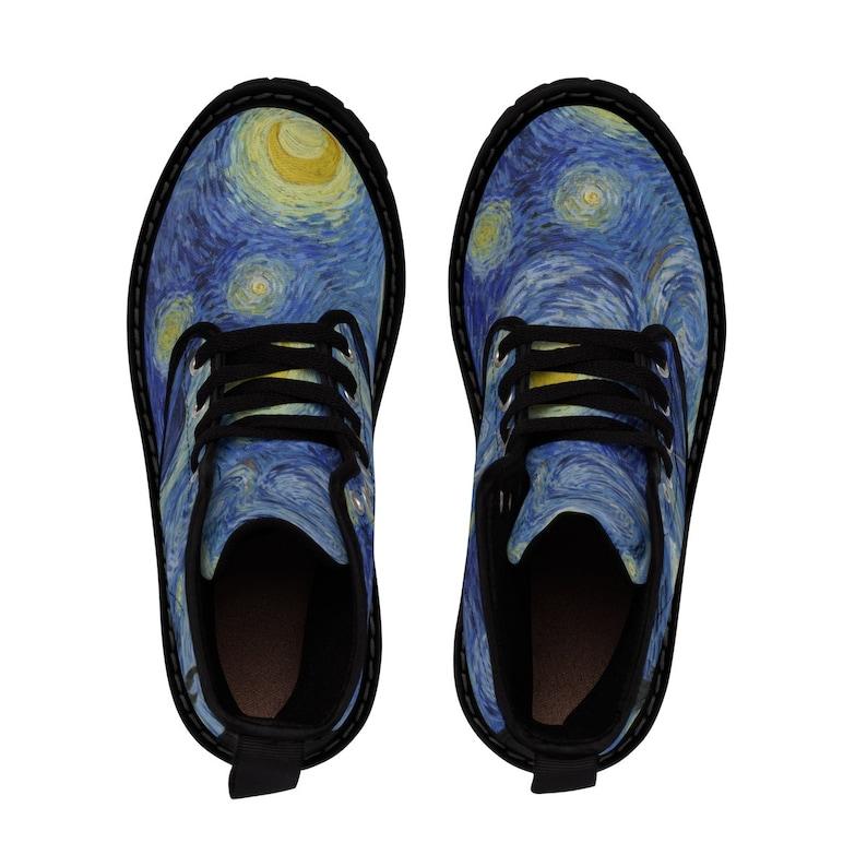 Gli stivali di tela di combattimento notturno stellato. 100% xiMTSMwU