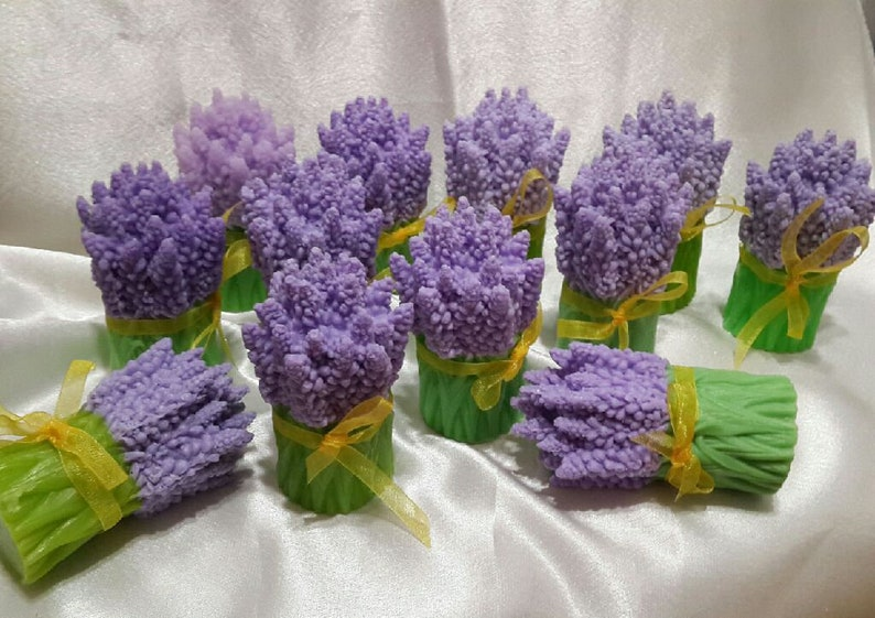 gypsum candles 3D silicone mold Lavender  silicone mold for soap chocolate Flower  Mold