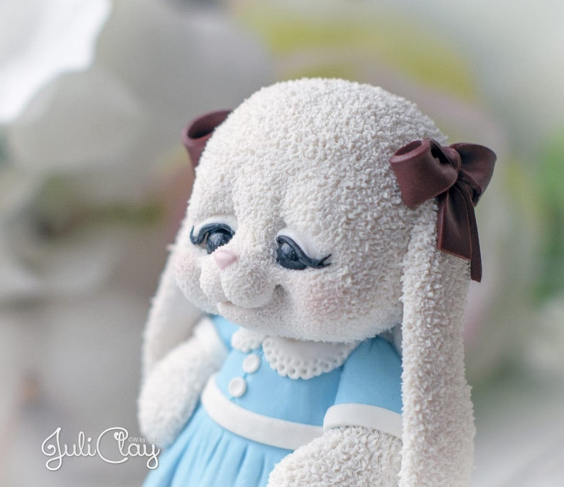 kawaii mold candle chocolate SILICONE MOLDS Bunny mold 3D silicone mold Bunny in dress for soap gypsum