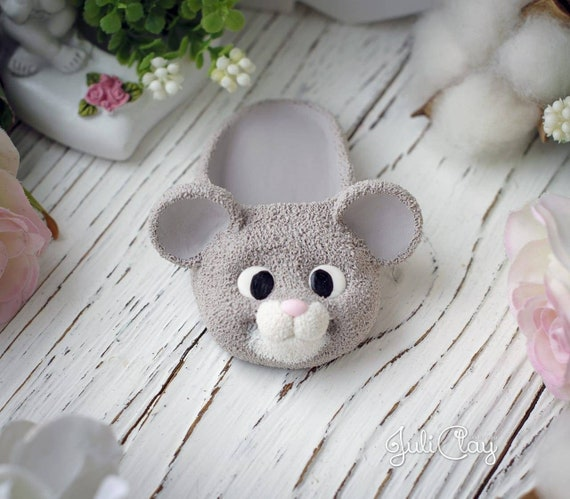 kawaii mold mouse mold candle gypsum chocolate SILICONE MOLDS 3D silicone mold Mouse in bootees for soap