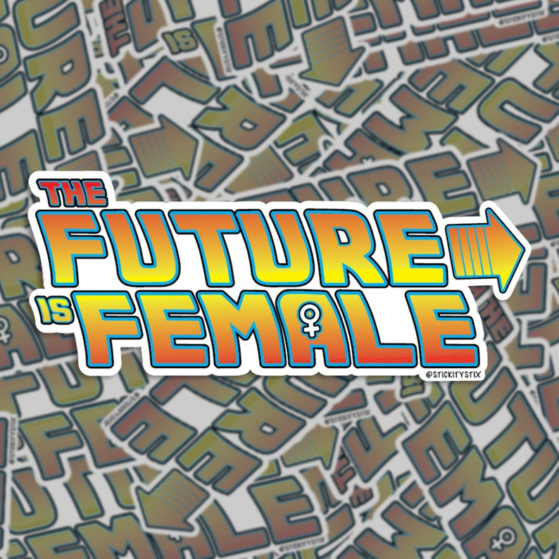 The Future Is Female Vinyl Sticker Feminism Sticker Car image 0