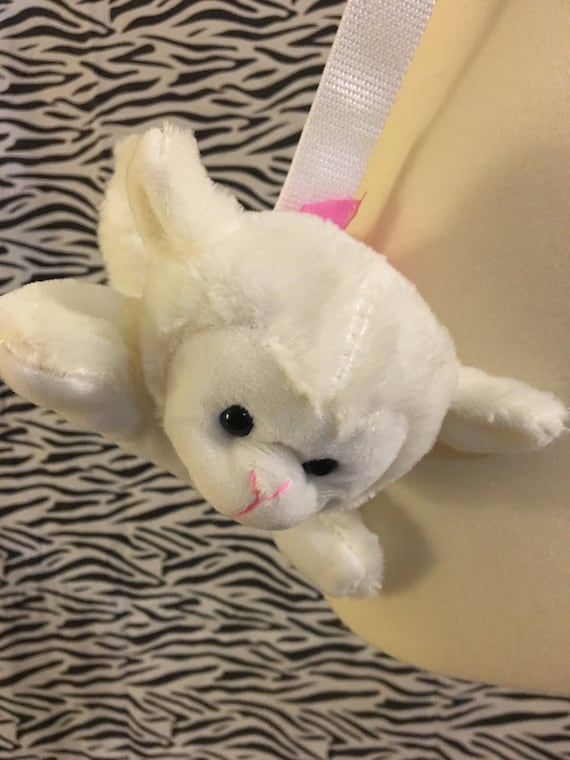 White Lamb Stuffed Animal Bag Etsy