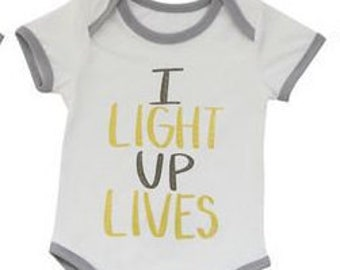 I Light Up Lives Baby Onesies/bodysuits, 0-3 months, 3-6 months, 6-9 months, 9-12 months