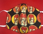 David Bowie Face Mask Aladdin Sane Ziggy Stardust