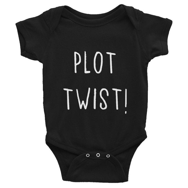 Plot Twist Baby Grow Black