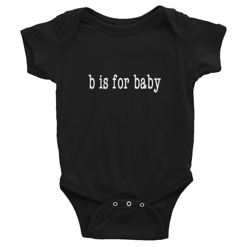 B is for... Baby Grow Black