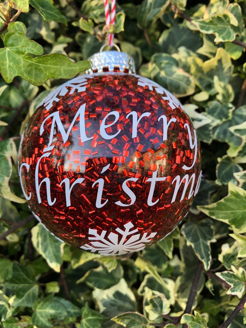 Set of 5 Personalised Christmas Baubles image 0