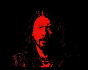Dave Grohl Foo Fighters Nirvana: art print, card, poster of original painting by Jonathan Ash