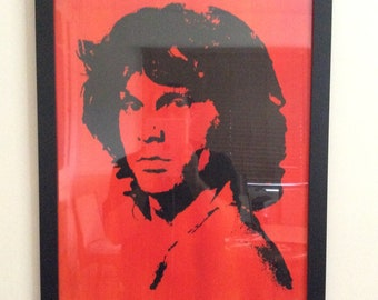ORIGINAL Acrylic Painting: singer and poet Jim Morrison of The Doors