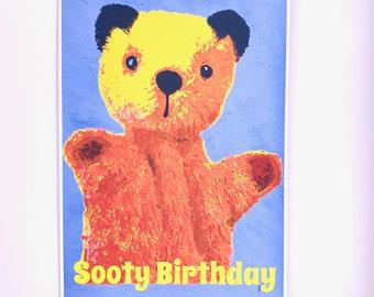 Sooty Birthday Greetings Card: 13 x 18cm