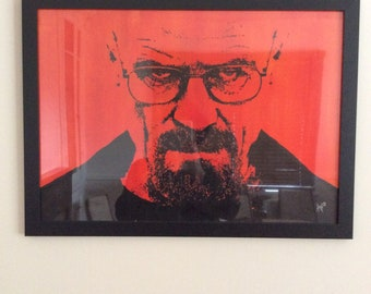 ORIGINAL Acrylic Painting: Walter White Heisenberg Breaking Bad