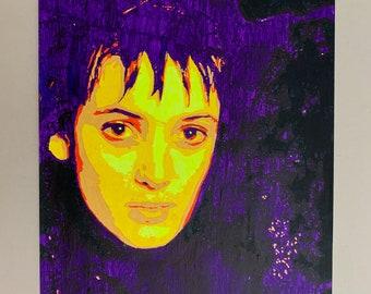 Winona Ryder Beetlejuice Strange and Unusual Original Acrylic Painting 594x420mm