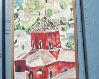 architectural watercolors painting