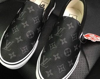c5443c1da9b98b Vans custom Lv canvas slip on