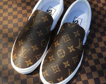 6f99fec7893064 Vans custom Louis Vuitton lv slip on