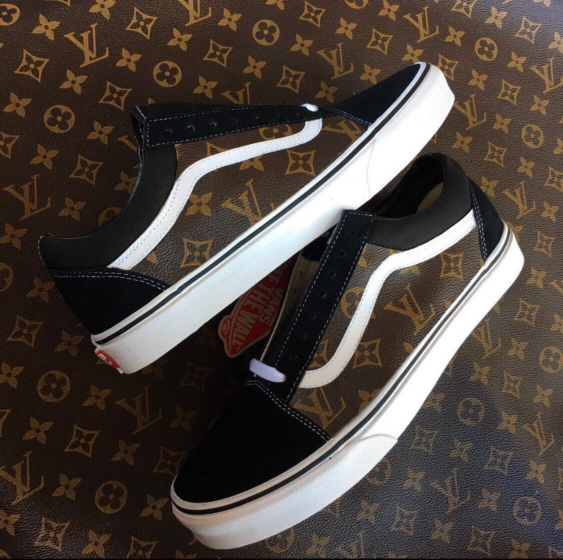 cbd7eabbf Vans custom Lv canvas