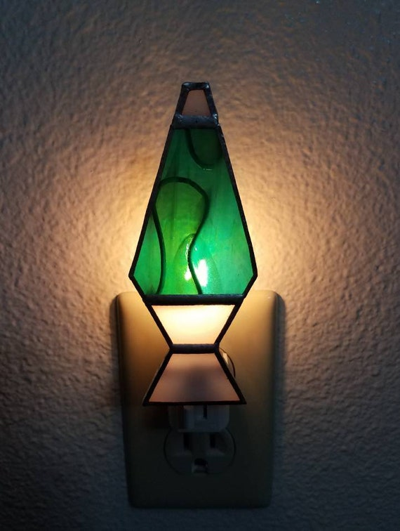 Stained Glass Lava Lamp Night Light Stained Glass Art Custom Handmade Lava Lamp Night Light