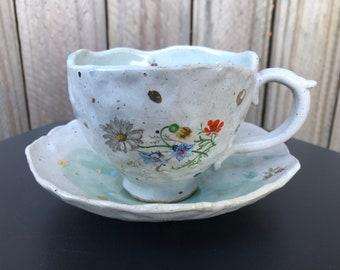 Coffee Cup   Teacup   Coffee Mug   Clay Mug   Handmade
