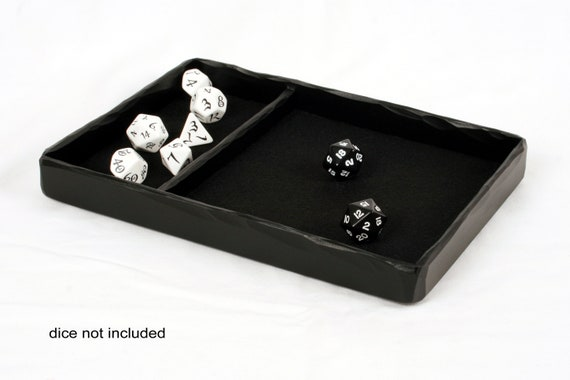 Dice Tray Standard Size Resin Cast Colour: Black from PlayTrayUK