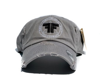 Distressed Double F Vintage Cap (Gray) 432d8632cdab
