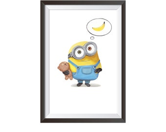 Minions Print Poster, Nursery Decor, Minions Print, Newborn Boy Baby Gift,  Despicable Me Print, Wall Art Print, Wall Art Nursery Decor
