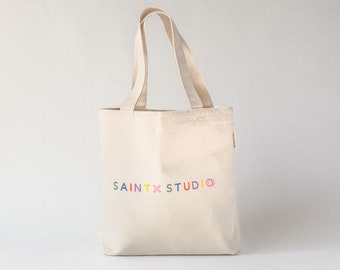 Cotton Tote Bag with Pockets. Organic Cotton Canvas. Medium Carry All  Shoulder Bag. Casual Tote. Gifts for her. Designed in Oz   42cm x 38cm 72f1dc7305