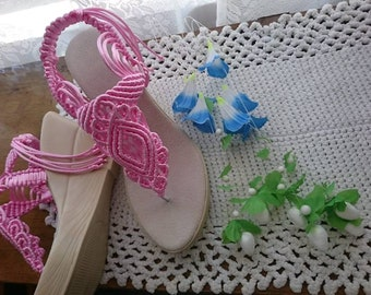 473d3b613 Comfortable Shoes Wedding Sandals with pearls Customizable Shoes Rose  Sandals