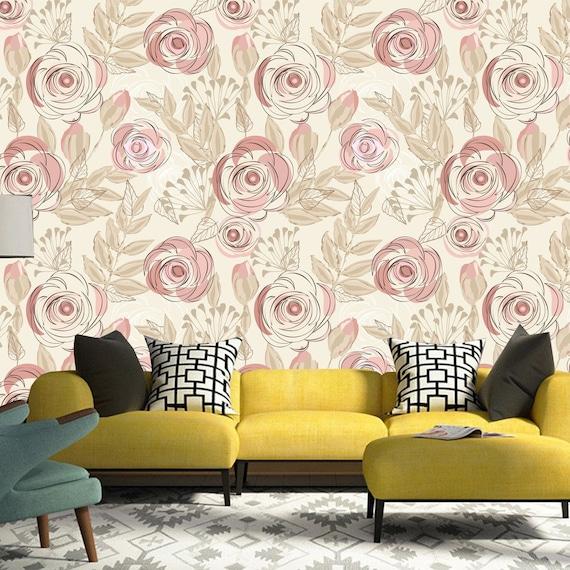 Printmyspace Vintage Boho Floral Wallpaper Vintage Boho Etsy