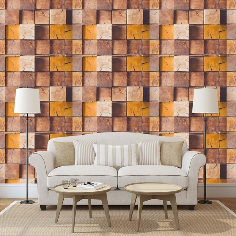 400 Wallpaper 3d Wood  Paling Baru