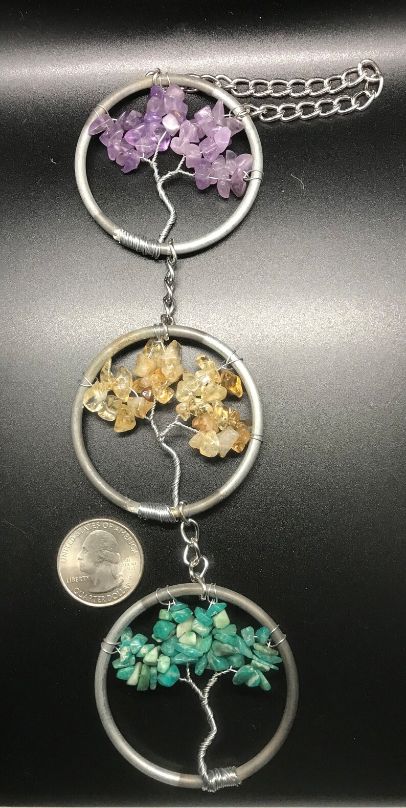 Amethyst citrine and amazonite Suncatcher image 0