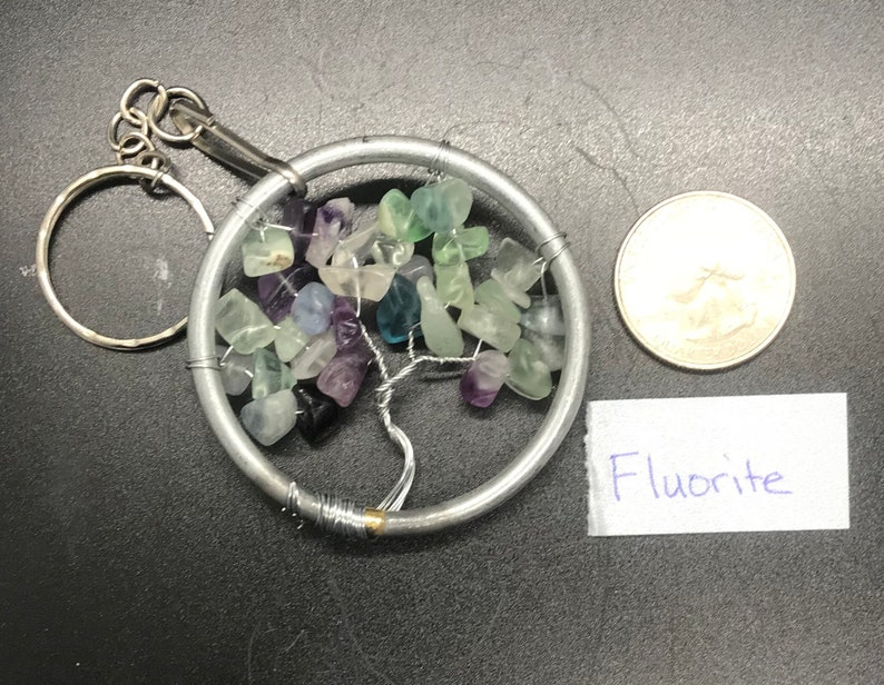 Fluorite tree keychain image 0