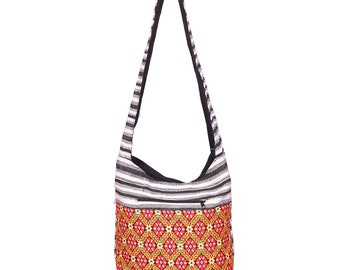 beautiful handmade Indian rug shoulder bag, woven hippie sling crossbody bag  with Indian cotton embroidered Boho bag 785b59eb4c