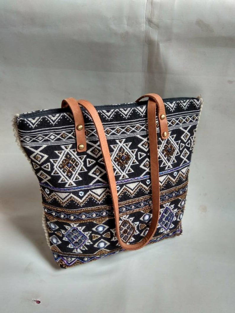 d1ab92c922dc Handmade Shoulder Bag, Women's Bag,Embroidered Handbag,Boho purse,Gypsy  Bag,Indian Rug tote bag, Cotton hand bag,Hippie Bag,Hand Work Art